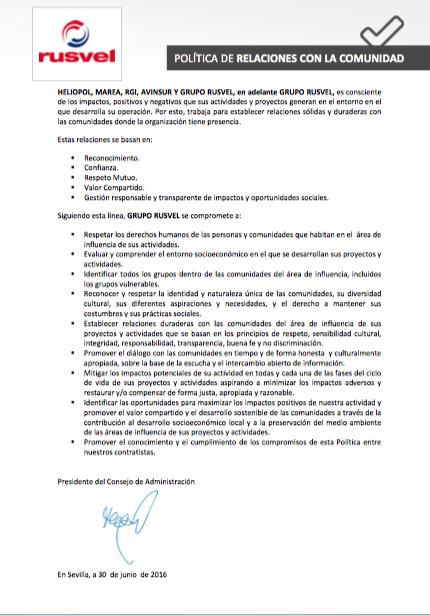 7-POLITICA DE RELACIONES CON LA COMUNIDAD
