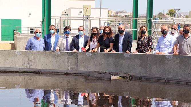 Inauguración de la EDAR de Huercal-Overa, con la asistencia de Miguel Rus